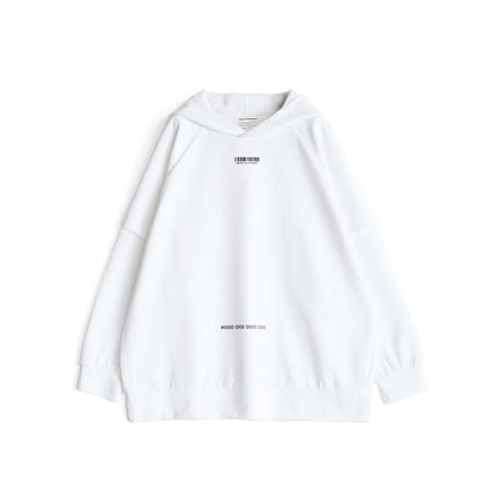 SHAREEF GEOMETRIC PATTERN LAYERED HOODIE(White)