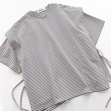 DISCOVERED Derabe Jersey Baskborder Layered Tee(WHITE×NAVY)