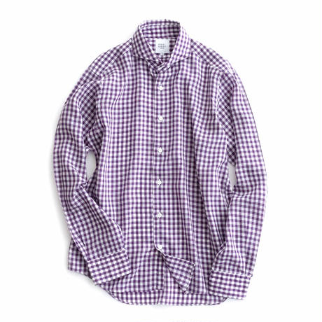 FEEL EASY ORIGINAL GINGHAM CHECK TENCEL SHIRT(Purple)