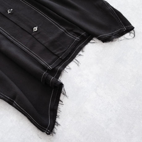 DISCOVERED CUT OFF SHIRT(BLACK)