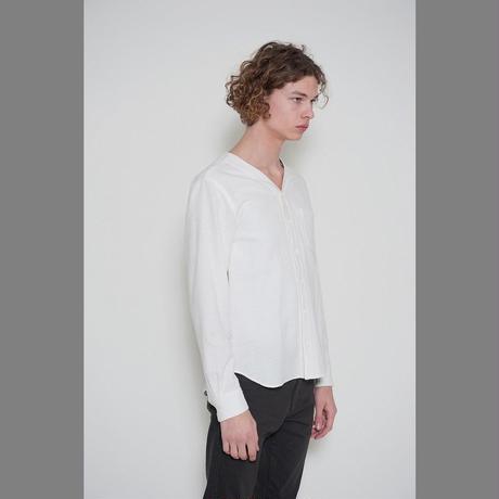 DISCOVERED V NECK SHIRT(WHITE)