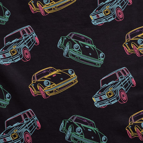 HYDROGEN ALLOVER TEE(BLACK CARS)