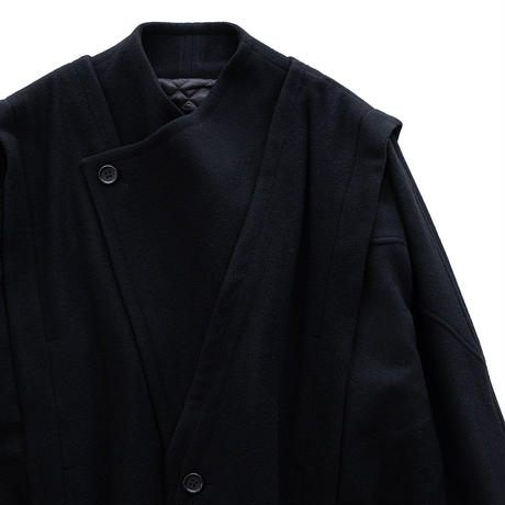 Iroquois TOP MOSSER OVER COAT(BLACK)