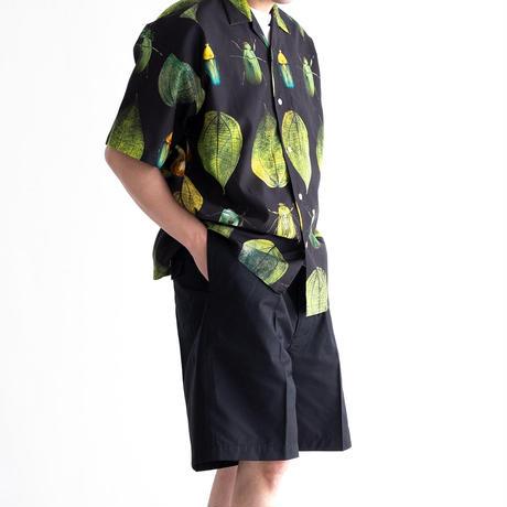 MISTERGENTLEMAN KOGANEMUSHI S/S CAMP COLLAR SHIRT(BLACK)