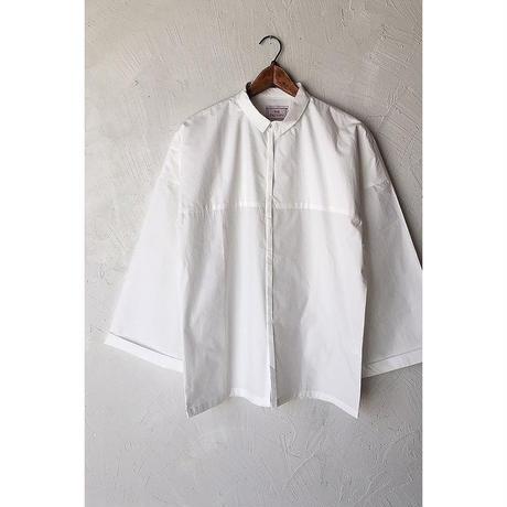 【WOMEN'S】THE FACTORY タイプライタービッグスリーブシャツ(White/Brown)