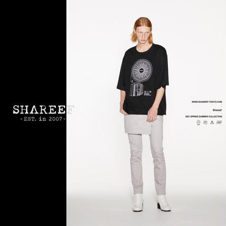 "SHAREEF ""CIRCULATOR"" emb. S/S BIG T(Black)"