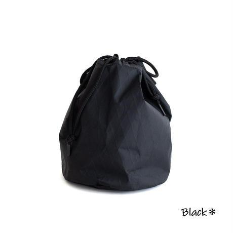 Snow Peak X-Pac Nylon Kinchaku(Black)