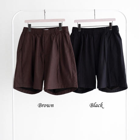 nuterm Two Tuck Easy Shorts(Black)