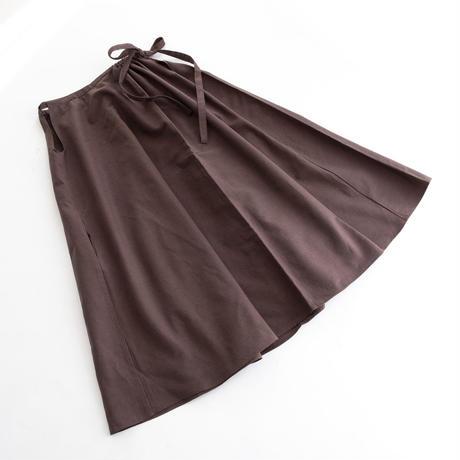 【WOMEN'S】THE FACTORY コットンリネンスカート(Cocoa)