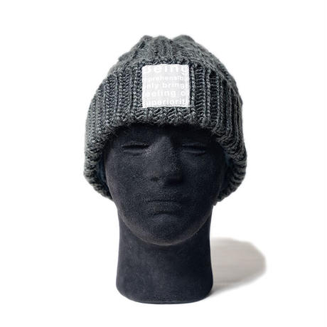 MofM(man of moods) CABLE-KNIT BEANIE(GRAY)