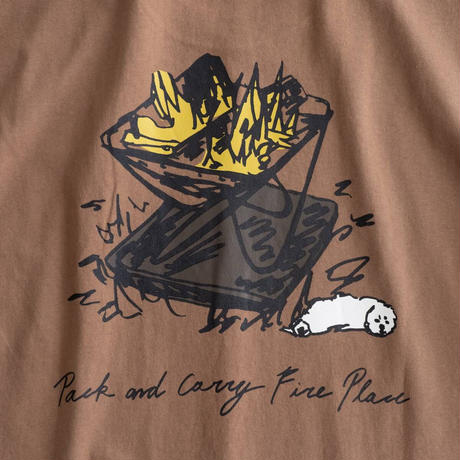 Snow Peak Printed T Pack&Carry Fireplace(Black/Brown/White)