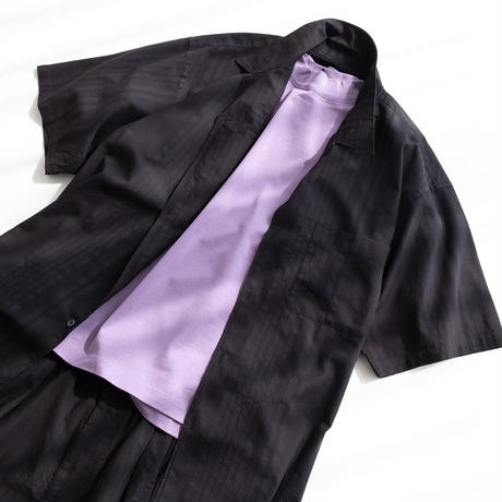 """nuterm """"Willie"""" Open Collar S/S Shirts(Black)"""