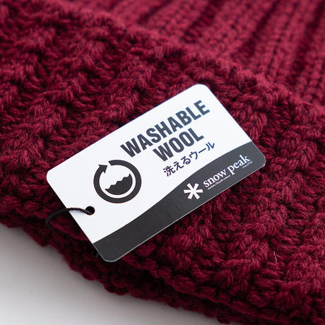 MofM×Snow Peak Washable Wool Knitted Cap(Black/Pro./Bordeaux)