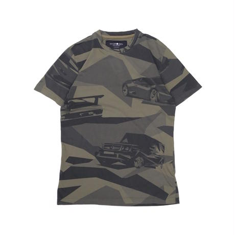 HYDROGEN CARS AND CAMO T-SHIRT(GREEN CAMOUFLAGE)