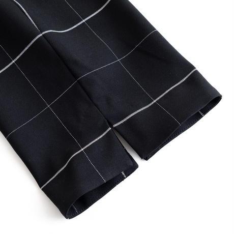 Iroquois T/R WINDOWPANE TAPERED PT(BLACK)