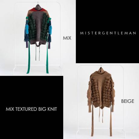 MISTERGENTLEMAN MIX TEXTURED BIG KNIT(BEIGE)