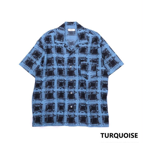Iroquois K.Y.Rオンブレチェックシャツ(TURQUOISE)