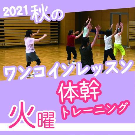 【ワンコインレッスン】10月26日(火)体幹トレーニング