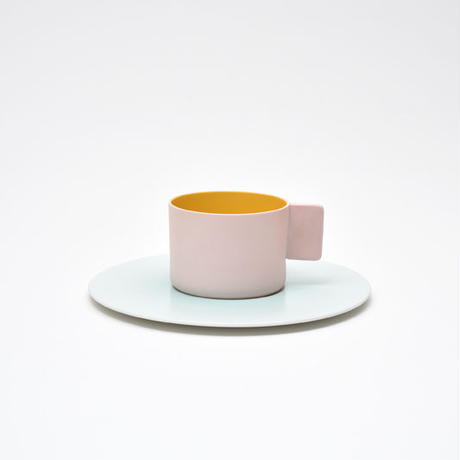 1616 / S&B Coffee Cup & Saucer  / Light Pink