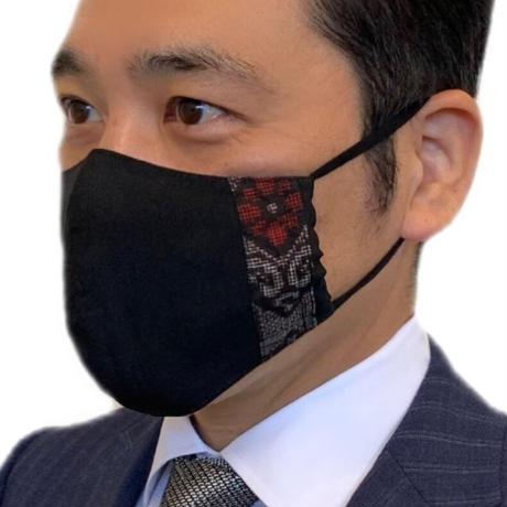大島紬マスク(藤有馬)ネイビー【S- 01】