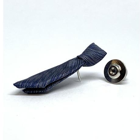 大島紬ブートニエール(ネクタイ型/パープル)【B-06】