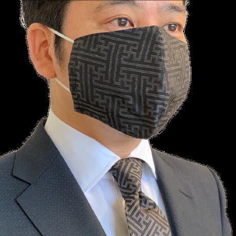 ⑨大島紬紬マスクカバー(藤有馬ブルー)【S-12 】