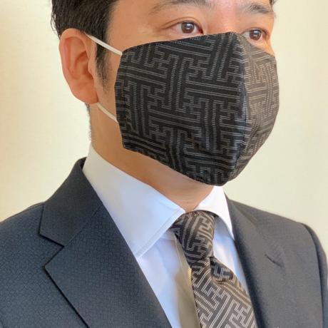 ①大島紬マスクカバー(秋名バラ風)【S-04】