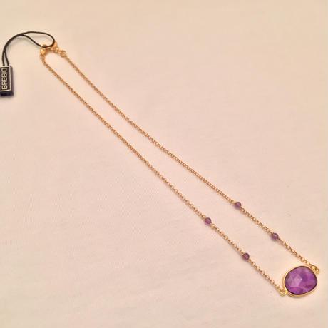 Gregio ロングネックレス Iris Purple