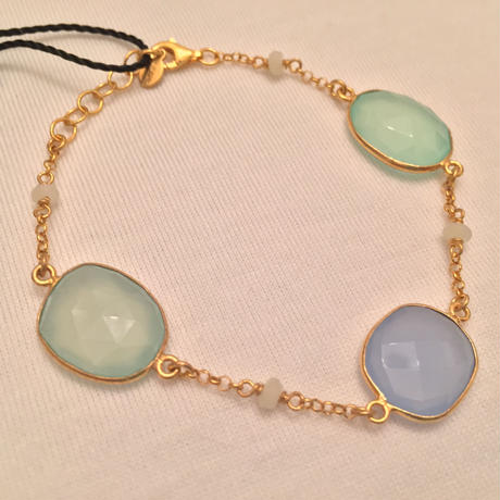 Gregio ブレスレット Iris three-stones Blue