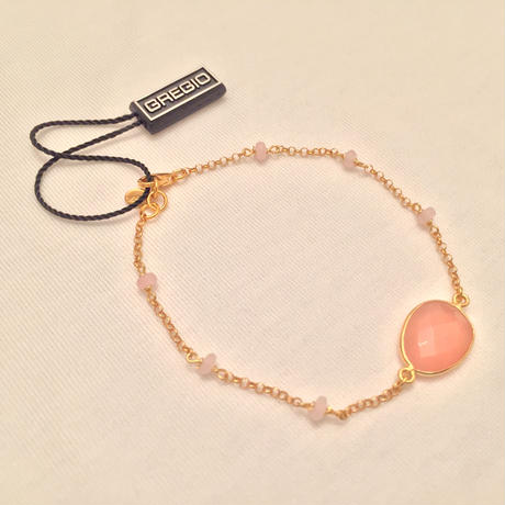 Gregio ブレスレット Iris one-stone Pink(Yellow Gold)