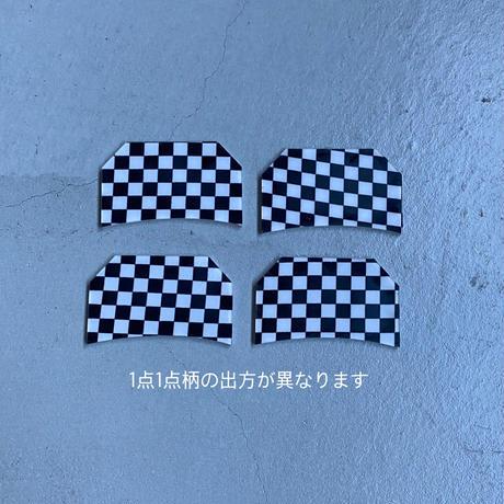 🏁Checker flag  Hair clip  (small )  [11月上旬~11月中旬のお届け] チェッカーフラッグクリップ