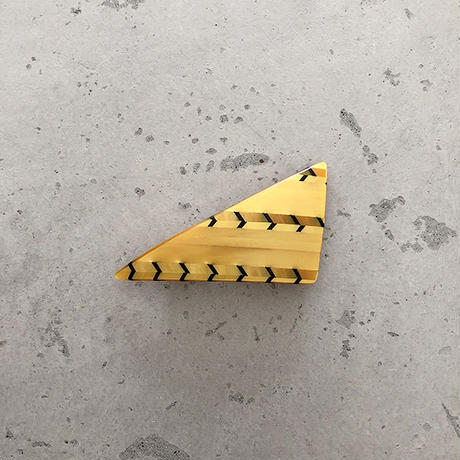 triangle barrette Aceti yellow