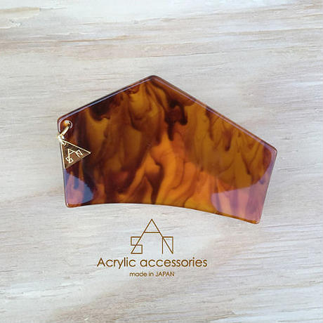 hexagon  hair clip  small