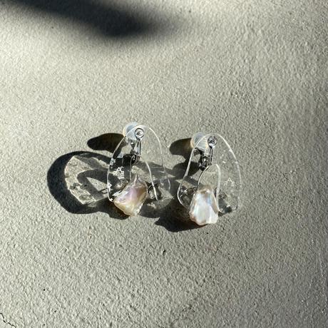 Asit earring (earclip) clear