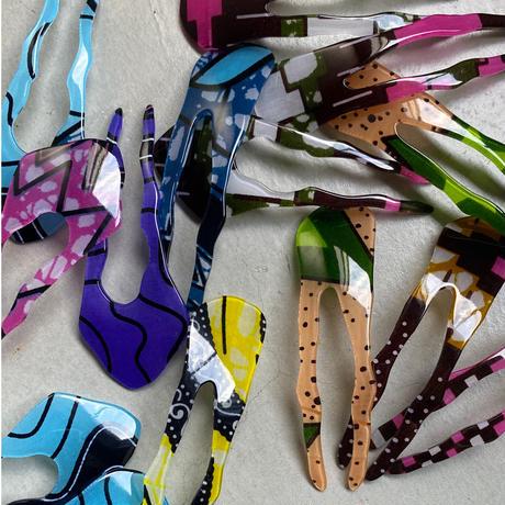 Hair stick アフリカンバティック Twig