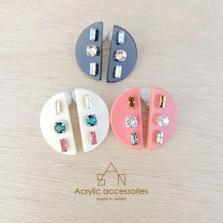 semicircle bijou earring
