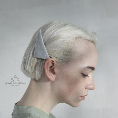 triangle barrette   gray series