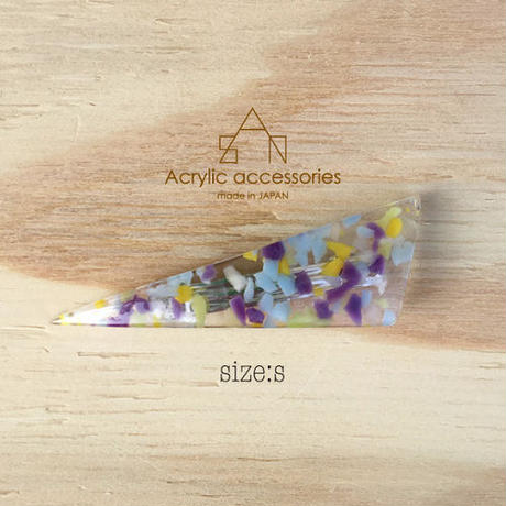 triangle barrette  small    chip series