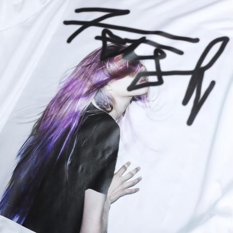 【AFYF】 MESH PRINT LS TEE [WH-HAIR]