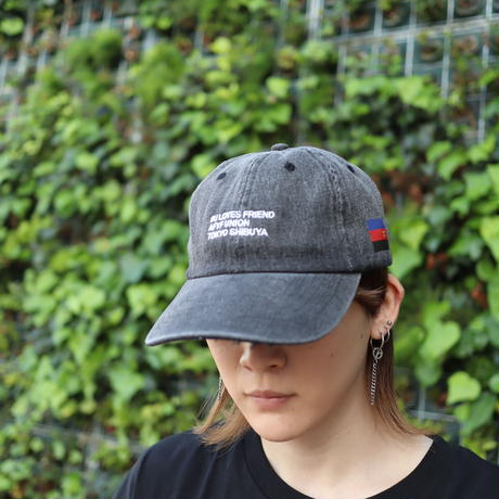 【AFYF ON NEWHATTAN社】 🌈# U LOVES FRIEND  CAP [RED-LIGHT BLACK DENIM] / XG20022901