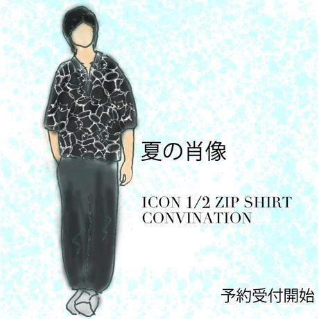 【AFYF】 ICON 1/2 ZIP SHIRT COMBINATION ITEM [TYPE-TSUMU TSUMU]