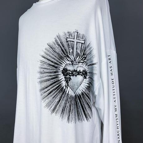 【AFYF】 BASIC OVERSIZED GRAPHIC LST [HEART-Ⅱ-WHITE]