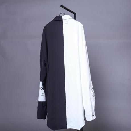 【AFYF】  ICONBILINGUAL SHIRT [WHITE/BLACK]