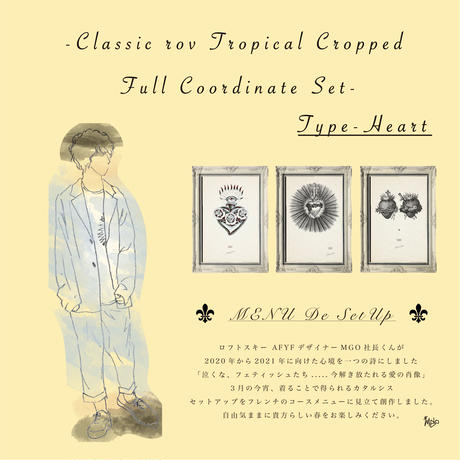 CLASSIC ROV TROPICAL CROPPDE FULL COORDINATE SET 【TYPE-HEART 】