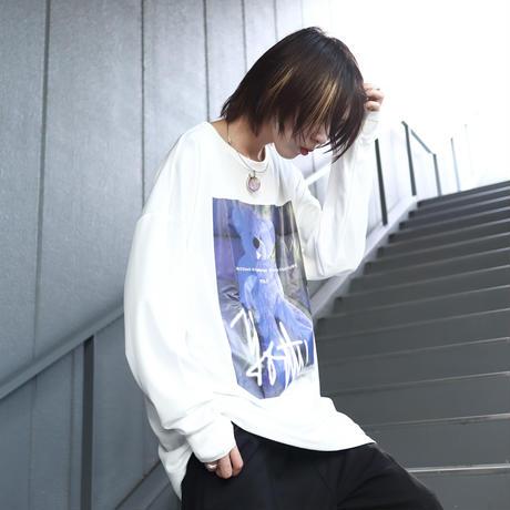 【AFYF】   MESH PRINT LS TEE [WH-YT BEAR]