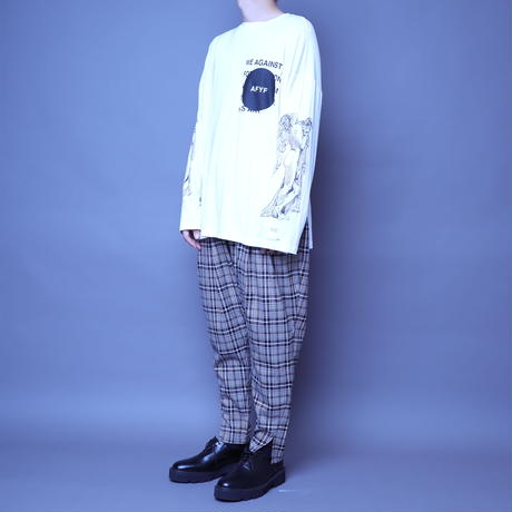 【AFYF】BASIC OVERSIZED GRAPHIC LST [ANGEL-Ⅱ-WHITE]