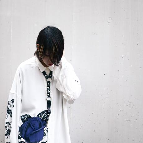 【AFYF】  ICON BIG SHIRT[WHT-BLUE ROSE]