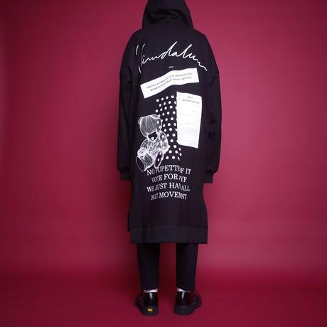 【AFYF】EXTRA ZIP PARKA[BLACK/WHITE]