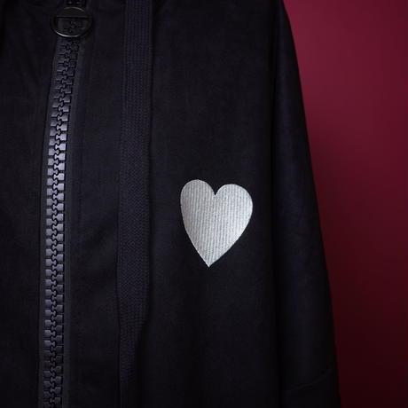 【AFYF】SWEADE LONG ZIP PARKA[BLACK/HEART WHITE]