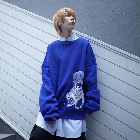 ダークベアーバザール 限定生産アイテム【AFYF】 SPECIAL 裏起毛 DROP SHOLDER CREW SWEAT 【DARK BEAR-ROYAL BLUE】 / 8K20090410